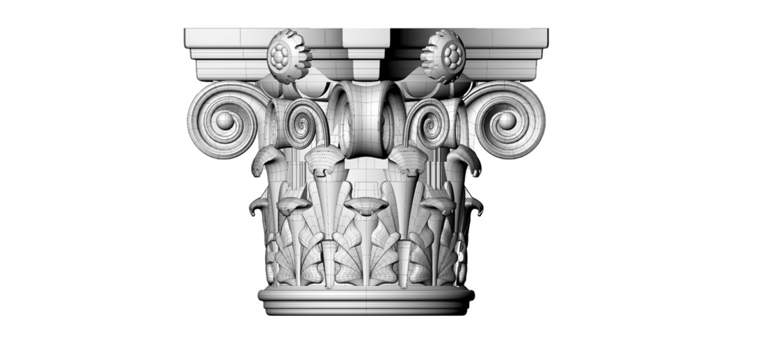 Corinthian Capital 3d printing made 3D Print 126861