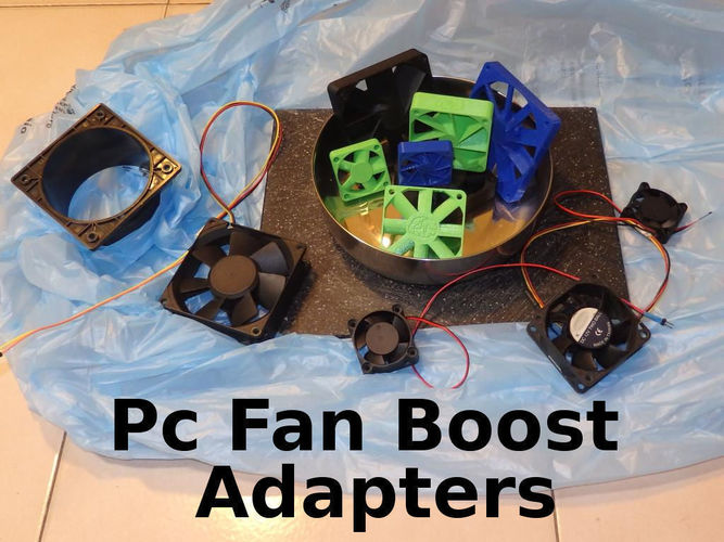 PC Fan Pressure Boost Adapter 60x60x10mm 3D Print 126972