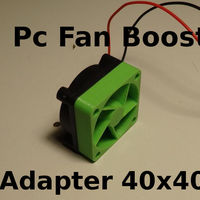 Small PC Fan Pressure Boost Adapter 40x40x10mm 3D Printing 126994
