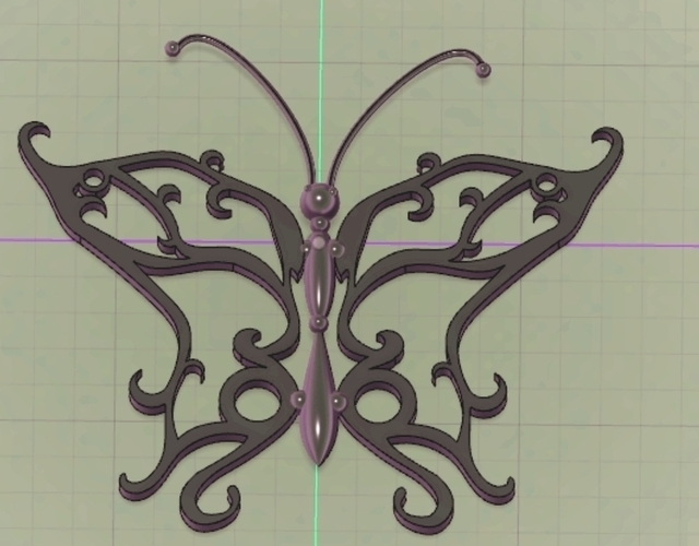 Steam Punk Butterfly 3D Print 126998