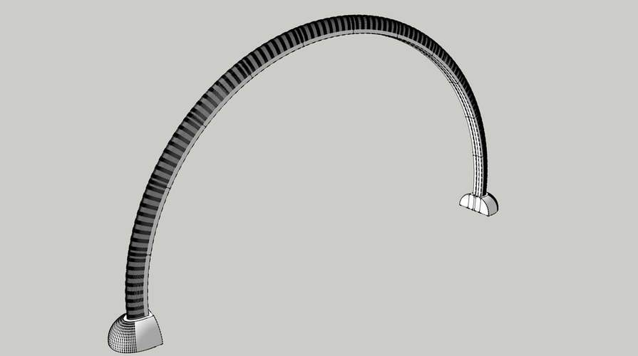 Modern LED Arch Light 3D Print 127023