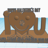 Small Happy Valentine's Day  3D Printing 127168