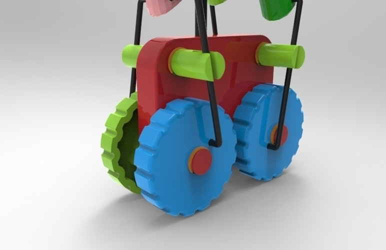 walking pony push 3D Print 127206