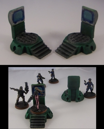 Teleporter Pads in 15mm Scale 3D Print 1273