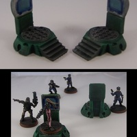 Small Teleporter Pads in 15mm Scale 3D Printing 1273