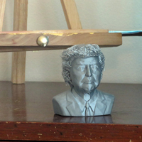 Small Portrait bust of Donald Trump 3D Printing 127391
