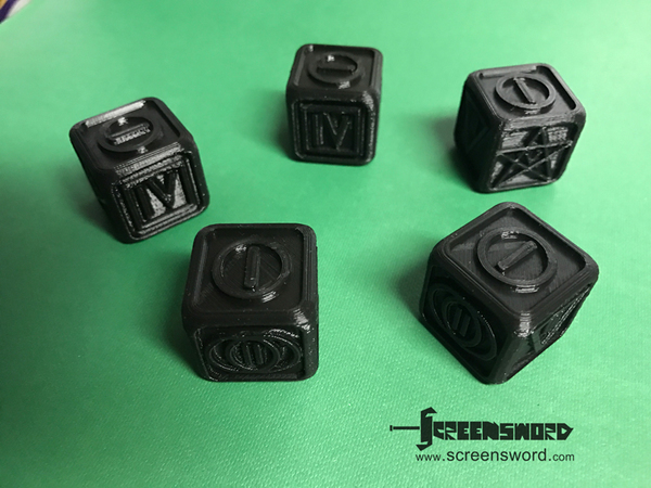 Medium Poker Dice for Dice Poker (Witcher 2) 3D Printing 127428