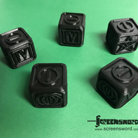 Small Poker Dice for Dice Poker (Witcher 2) 3D Printing 127428