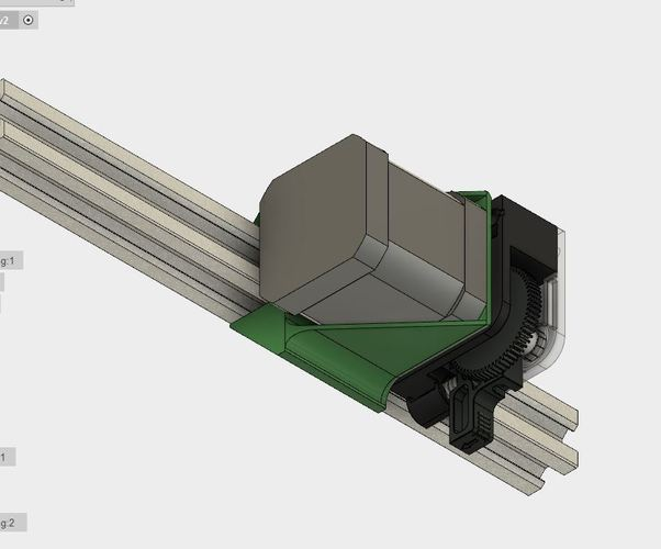 E3D Titan bracket holder for 2020 extrusion 3D Print 127473