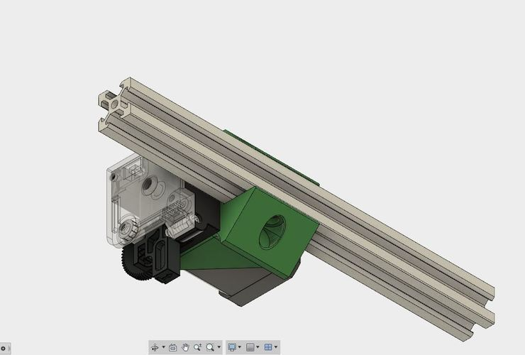 E3D Titan bracket holder for 2020 extrusion 3D Print 127474