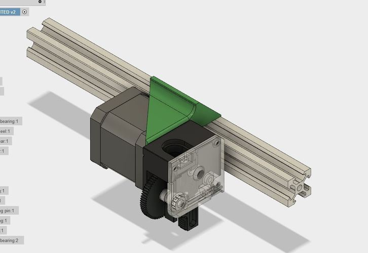 E3D Titan bracket holder for 2020 extrusion 3D Print 127476