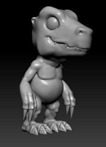 Highpoly_Digimon charactor by MiFi Studio in Busan 3D Print 127504