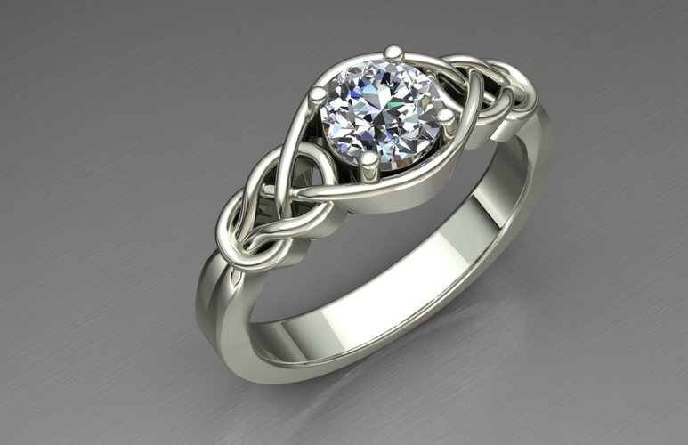 sue cog mary the geeky printed surface defect ring rings