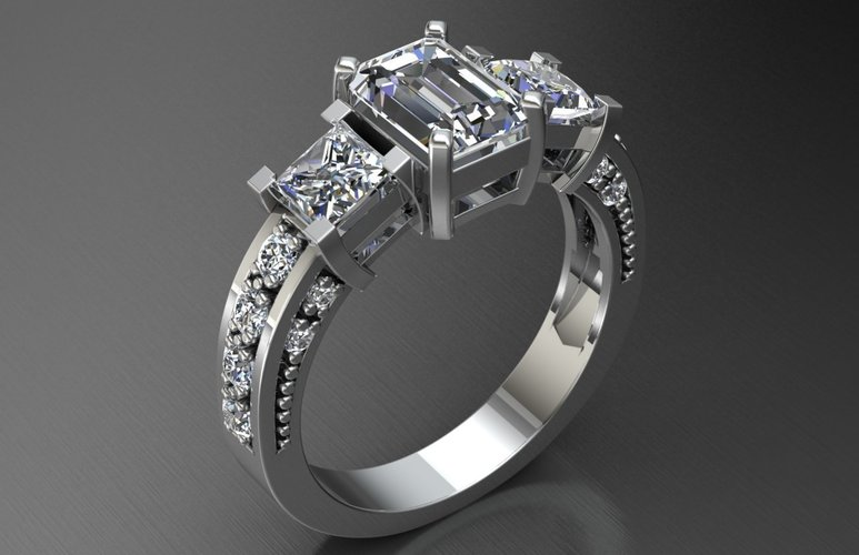 Jewelry Ring Women 3D Print 127652