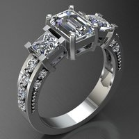 Small Jewelry Ring Women 3D Printing 127652