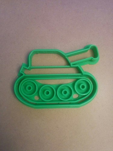 Tank cookie cutter 3D Print 127667