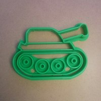 Small Tank cookie cutter 3D Printing 127667