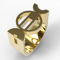 Small Bauhaus Ring 3D Printing 127672