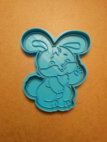 rabbit cookie cutter 3D Print 127675