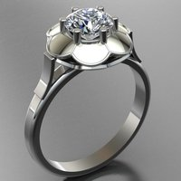 Small Jewelry Ring Women 3D Printing 127676