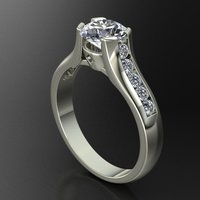 Small Solitaire Ring 3D Printing 127682