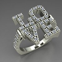 Small Ring Love 3D Printing 127687