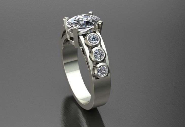 Diamond Ring Jewelry 3D Print 127712