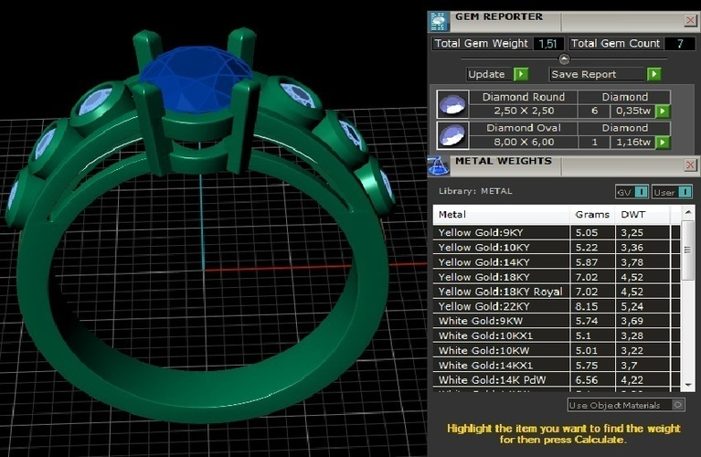Diamond Ring Jewelry 3D Print 127713