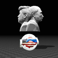 Small Bust of World's Greatest Leaders 3D Printing 127731