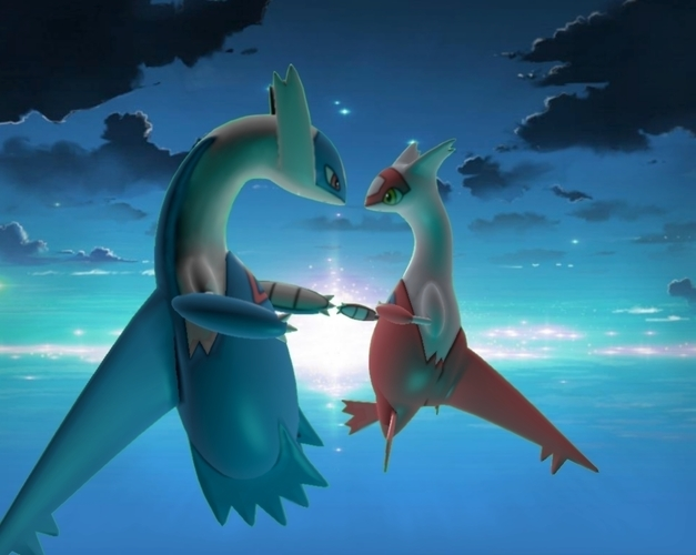 ▽  Latias and Latios  ▽ 3D Print 127779
