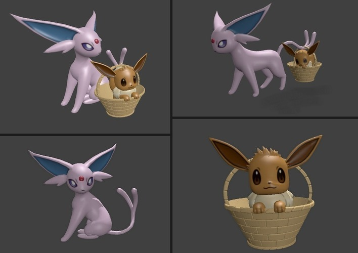 ♡♡ Eevee and Espeon ♡♡ 3D Print 127809