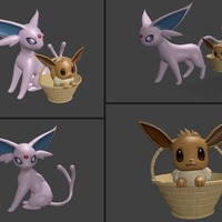 Small ♡♡ Eevee and Espeon ♡♡ 3D Printing 127809