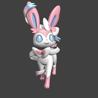 Small Sylveon  ♡ ♫ ♪  3D Printing 127833