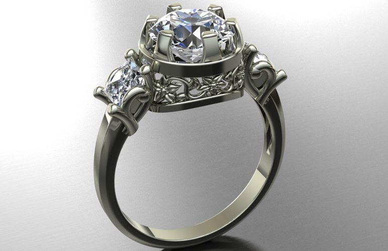 Solitaire Diamond  3D Print 127855