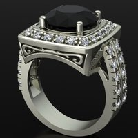 Small Jewelry Ring Women 3D Printing 127908