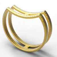 Small double single ring 3D Printing 128002