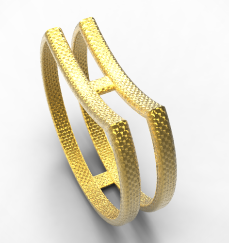 double single ring 3D Print 128003