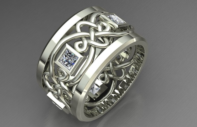 Diamond Ring Jewelry 3D Print 128041