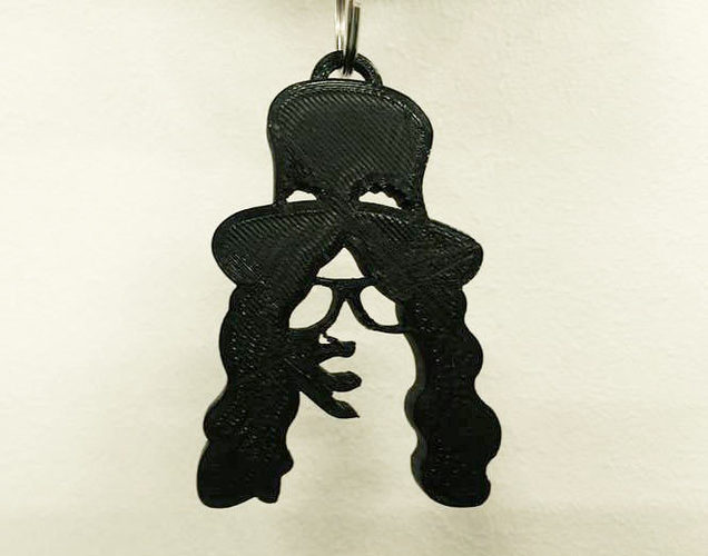 Slash Necklace - Guns and Roses 3D Print 128067
