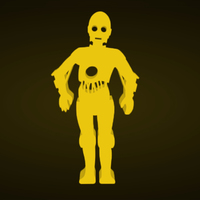 Small Star Wars C3-PO 3D Printing 128076