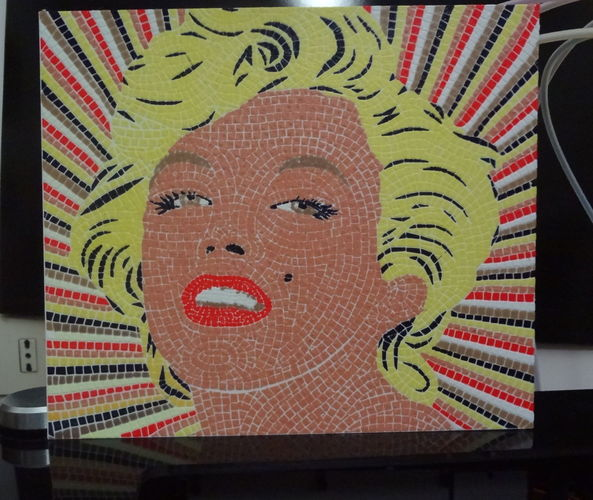 Marilyn Monroe mosaic - 6 colors printable mosaic 3D Print 128097