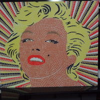 Small Marilyn Monroe mosaic - 6 colors printable mosaic 3D Printing 128097