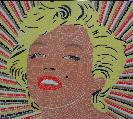 Marilyn Monroe mosaic - 6 colors printable mosaic 3D Print 128098
