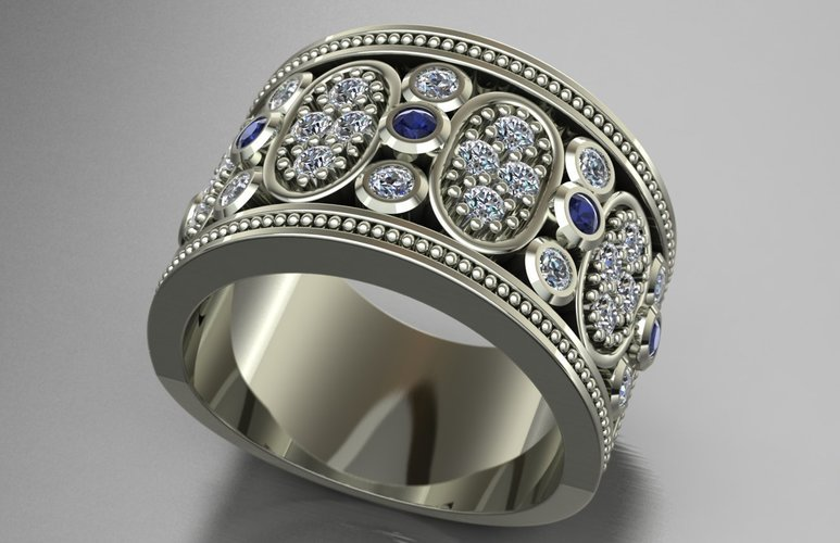 Jewelry Ring Women 3D Print 128263