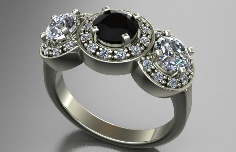 Jewelry Ring Women 3D Print 128286
