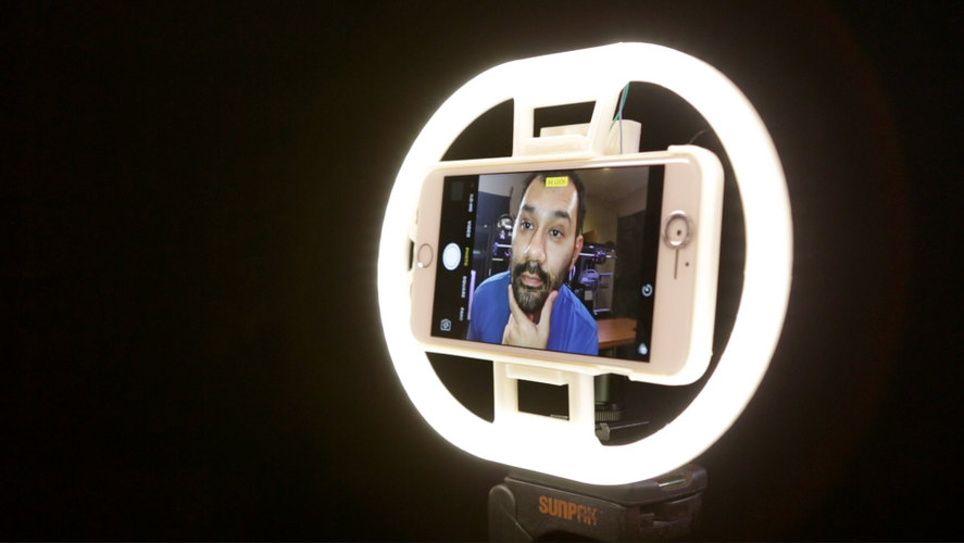 LED Ring Light 3D Print 128306