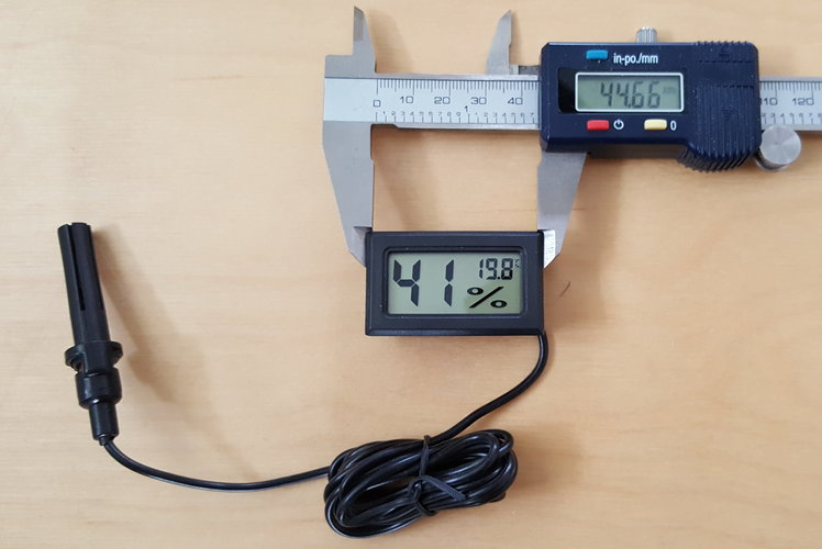 Digital thermometer holder 3D Print 128318