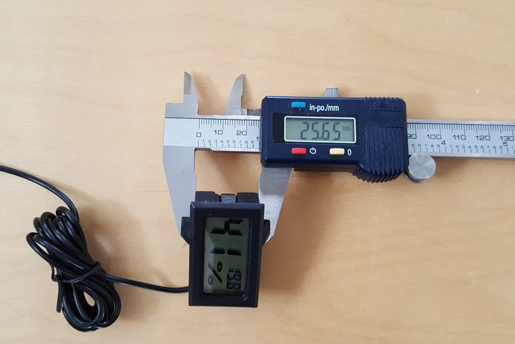 Digital thermometer holder 3D Print 128319