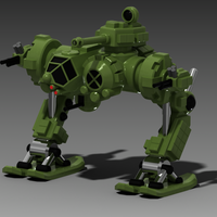 "Small Russian Heavy Mech ""Toad"" (Zhaba) 3D Printing 128480"