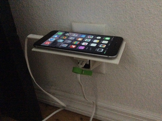 IPHONE 6 PLUS - Plug & Phone Holder 3D Print 128592